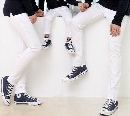 [FUNNYLOVE] WHITE REGULAR FIT PANTS