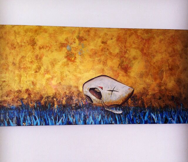 Hijos de la luz / sueños rotos. Oil and acrylic on canvas.