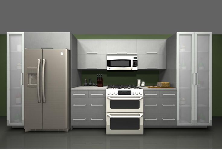 Use ikea rubrik stainless steel cabinet over fridge and for Kitchen stainless steel cabinets
