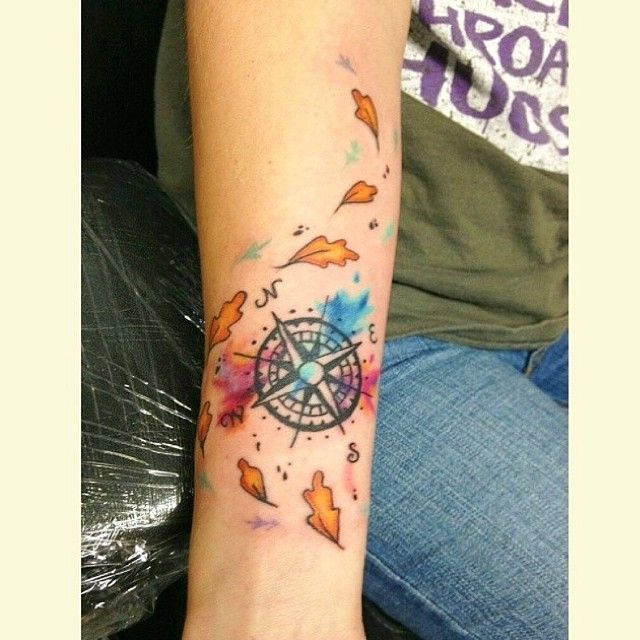Beautiful Pocahontas inspired compass on @skywalker_r23po #inkeddisney