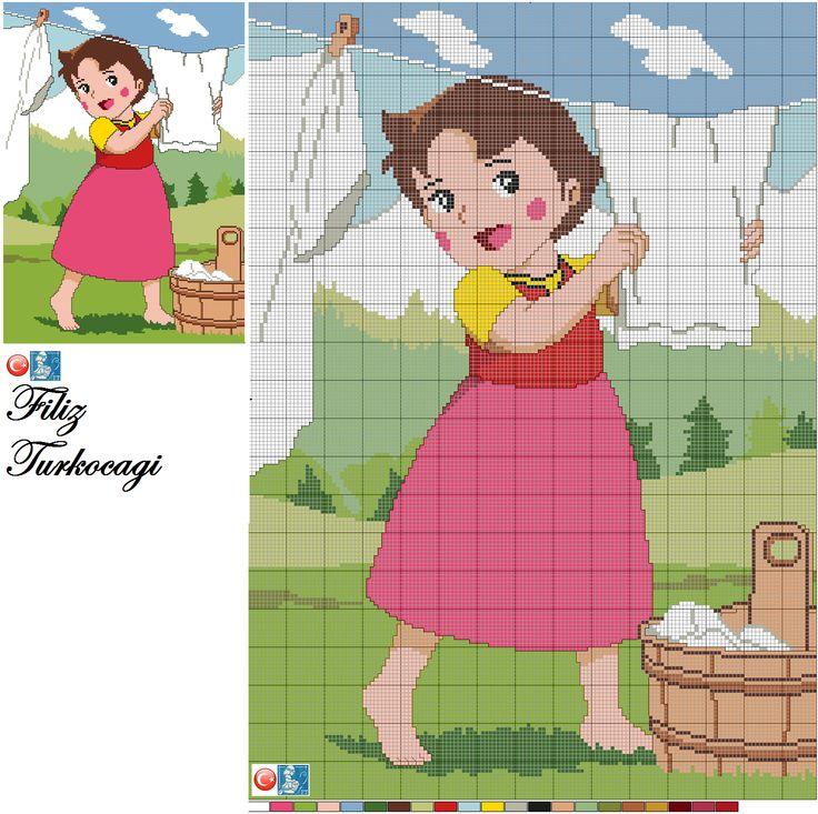 Çizgi çizgi gidiyorum işte :)) Designed by Filiz Türkocağı... ( Heidi )