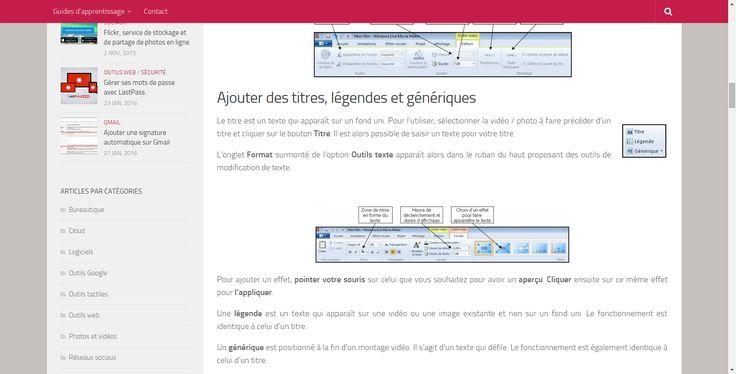 Montage vidéo avec Windows Live Movie Maker