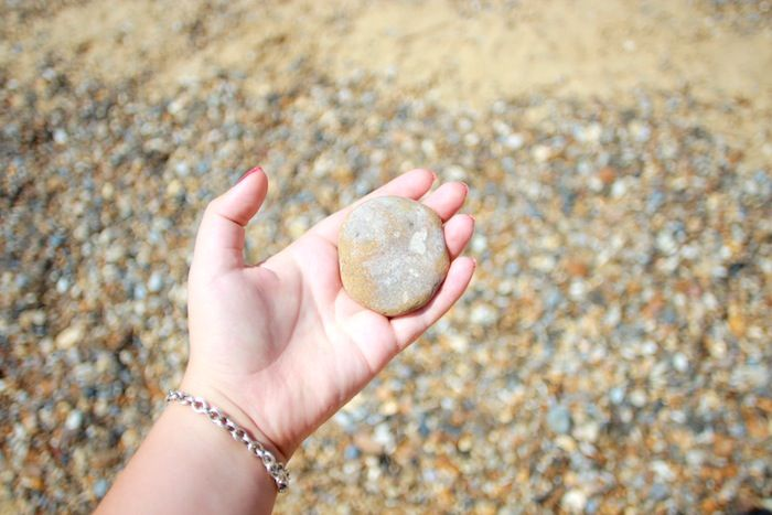 People can send their wishes to me by picking a stone and trying to skim it in the sea!