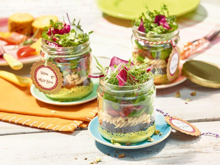 Curry-Nudel-Linsen-Salat