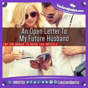 An Open Letter To My Future Husband