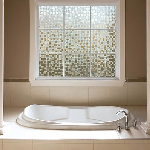 gila clear mosaic glass scenes window film gila window film - Bathroom Window