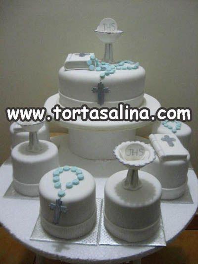 Torta y Minitortas de Primera Comunión