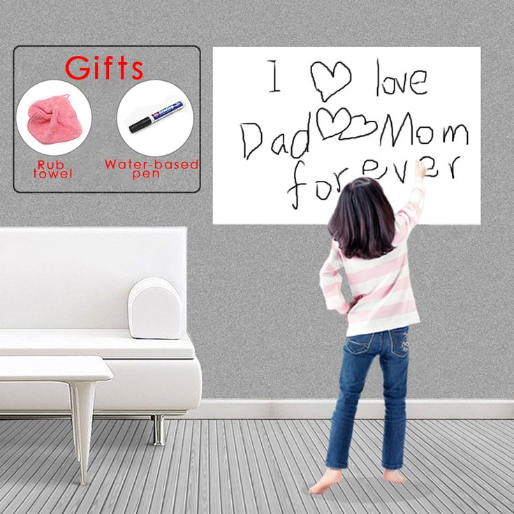 45X100CM Eco-friendly Pizarras Removable Whiteboard Sticker Chalkboard Decals Home With 1pcs Marker Pen Whiteboard