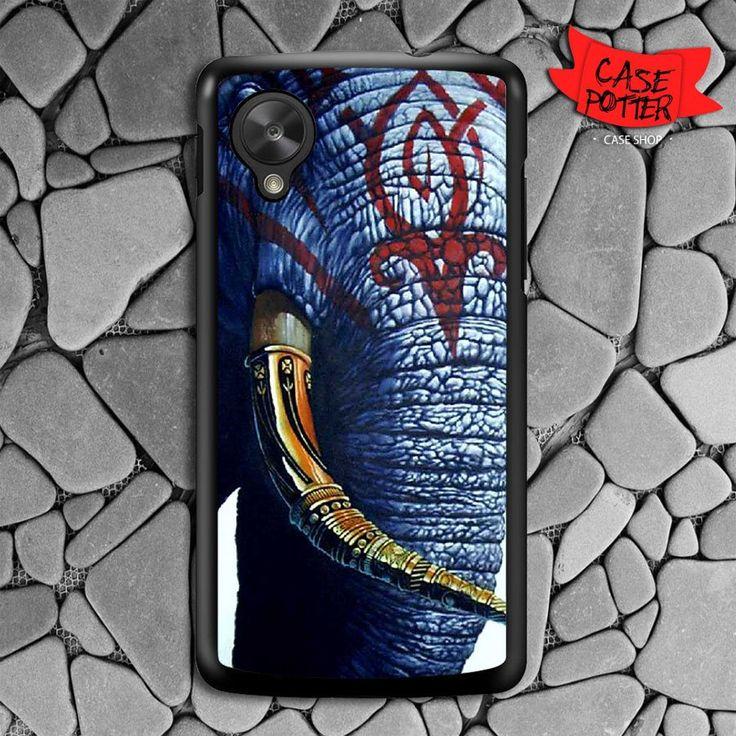 Red Aztec Indian Elephant Nexus 5 Black Case