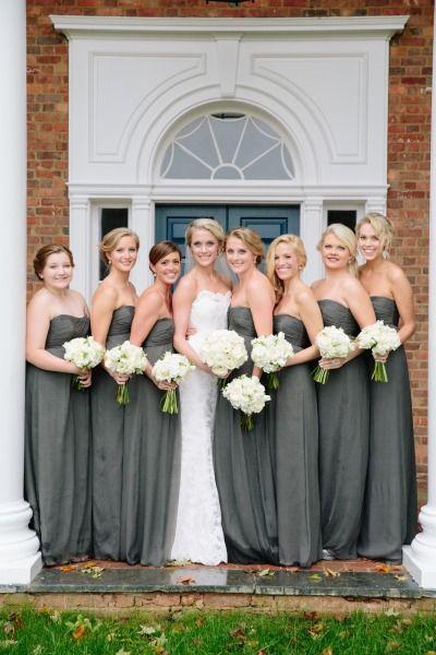 Southern bridesmaids: http://www.stylemepretty.com/virginia-weddings/charlottesville/2014/10/10/rustic-elegant-charlottesville-barn-wedding-at-verulam-farm/   Photography: Meg Runion - http://www.megrunionstudios.com/