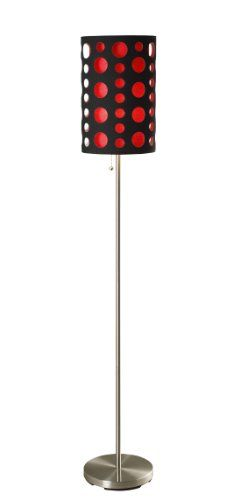 Special Offers - ORE International 9300F-BK-RD Modern Retro Floor Lamp Black/Red 66 Inches - In stock & Free Shipping. You can save more money! Check It (July 11 2016 at 12:57AM) >> http://tablelampusa.net/ore-international-9300f-bk-rd-modern-retro-floor-lamp-blackred-66-inches/