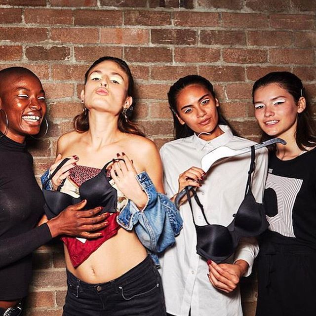 Girls just want to have fun. BTS with @sonnyphotos for the Intimo x Christopher Esber Resort runway at @fashionweekaus. #loveintimo #getfitted #brachat #mbfwa #runway @christopher_esber