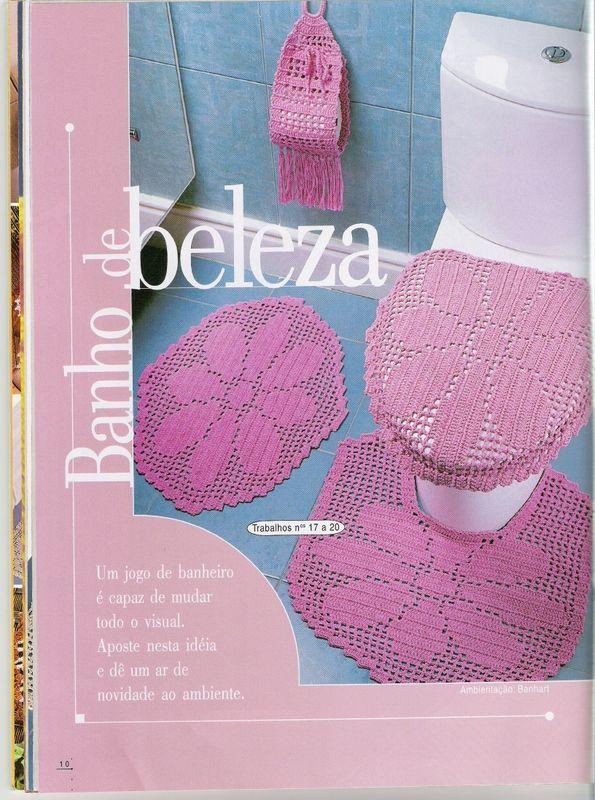 Baño Web   395 Best Set De Bano De Crochet Images On Pinterest Knitting