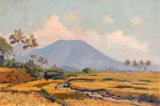 Carel Lodewijk Dake Jr. (Schaerbeek, 1886 – Jakarta, 1946) - Landscape.