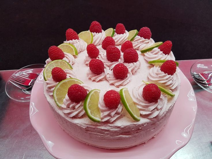 Frambozen+limoentaart,++heerlijk+verfrissend+met+vers+fruit!