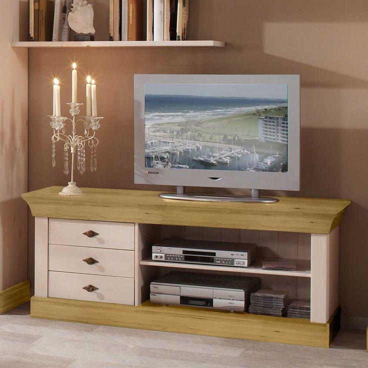 TV Unterschrank Aus Kiefer Massivholz Landhausstil Jetzt Bestellen Unter Moebelladendirektde Wohnzimmer Tv Hifi Moebel Lowboards Uideee25e76