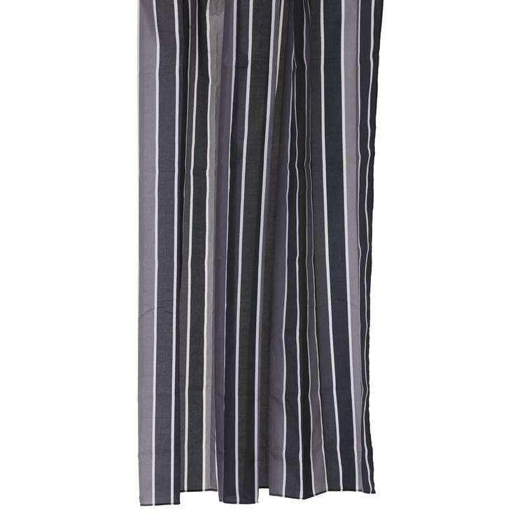 Wilko Stripe Shower Curtain Black White Bathroom Pinterest