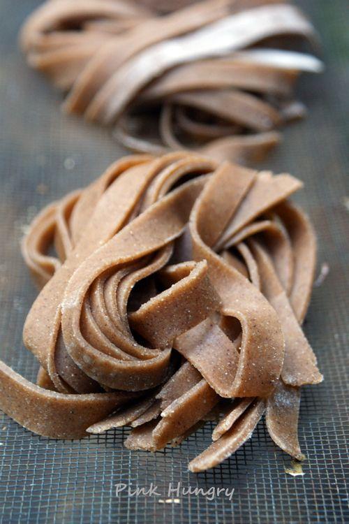 chestnut flour tagiatelle