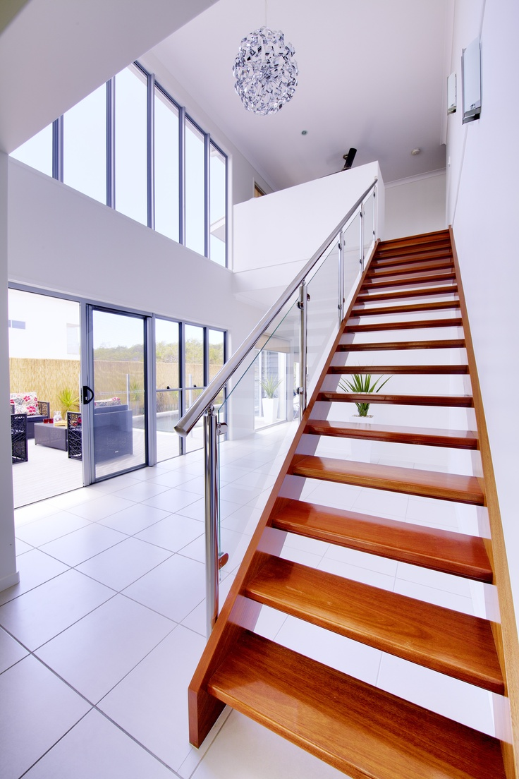 Beautiful grand wooden staircase