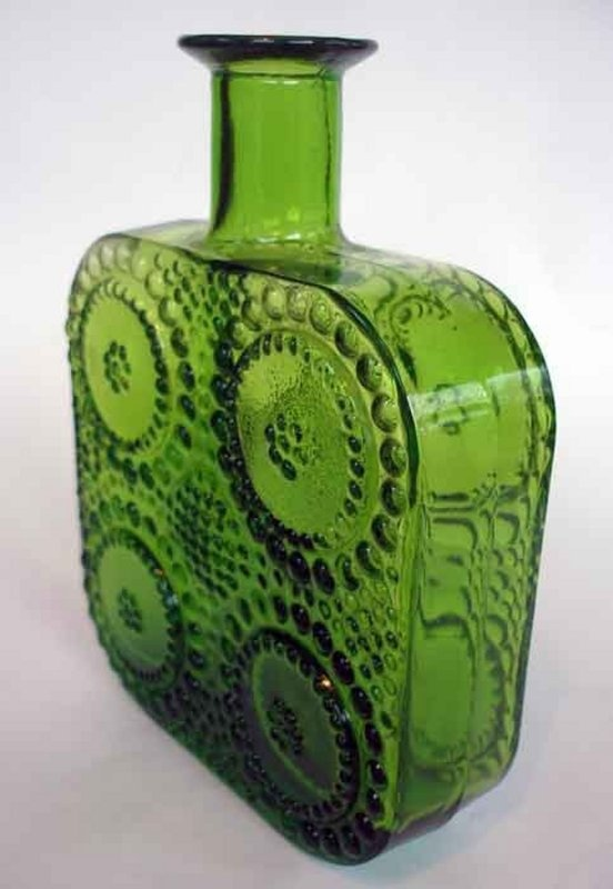 Bottle Decanter, design Nanny Still, Riihimäen lasi, Finland - Vintage Finnish Glass