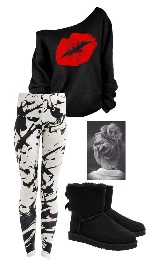 Untitled #76 by weird-fangirl on Polyvore featuring polyvore, fashion, style and UGG Australia