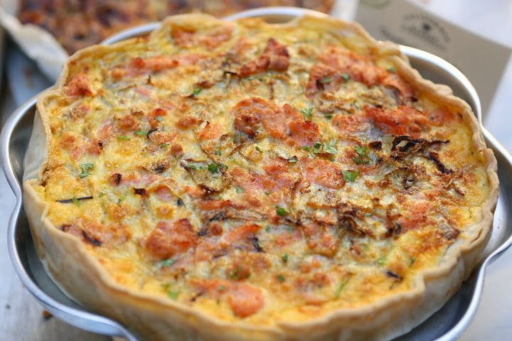 Smoked salmon quiche by California Bakery