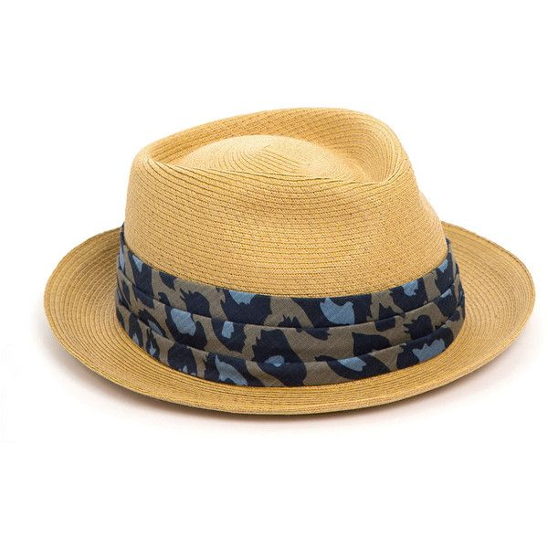 MR. KIM by Eugenia Kim Tony Antique Michael Bastian Porkpie Hat (€105) ❤ liked on Polyvore featuring men's fashion, men's accessories, men's hats, hats, accessories, camel, men's brimmed hats and antique mens hats