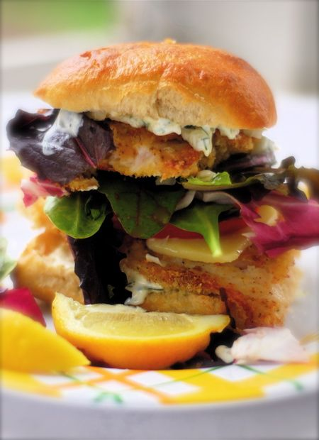 Hairy fish sandwich
