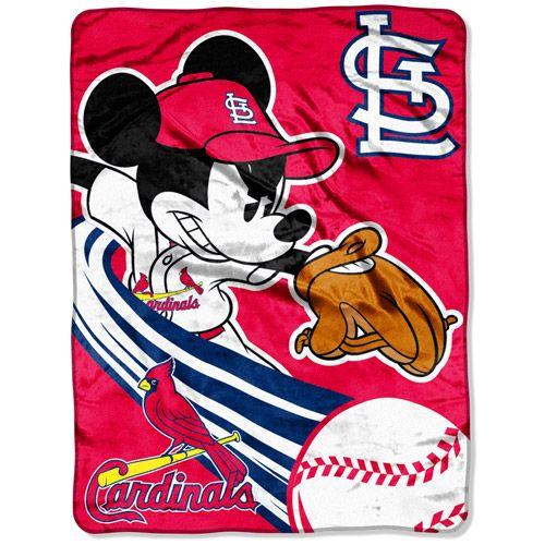 "St. Louis Cardinals Mickey 46""x60"" Throw - MLB.com Shop"