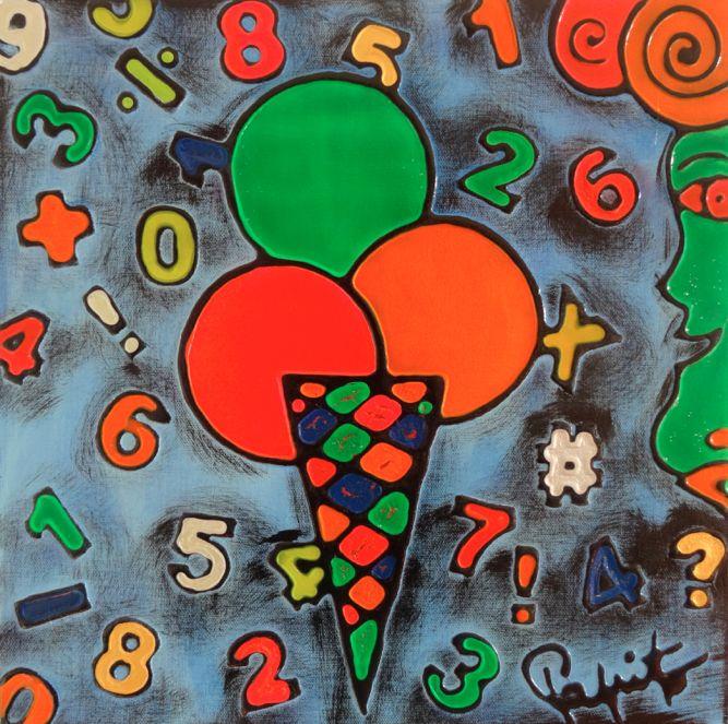 TENTAZIONI #05 - 40x40 cm. - Acrilic on canvas  #ICECREAM #TENTAZIONI #TEMPTATIONS