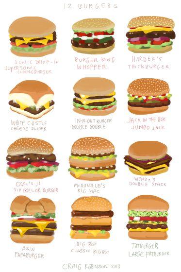12 Burgers by Craig Robinson
