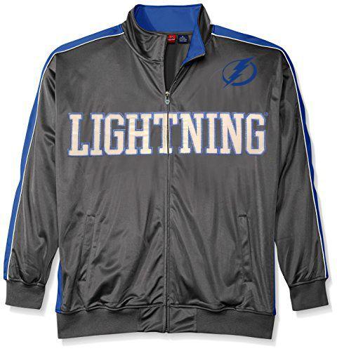 Tampa Bay Lightning Men's BIG & TALL Reflective Full Zip Track.  Jacket - Tampa Bay Sports
