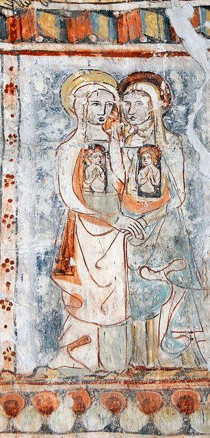 "St.George (Sogn Gieri) Church, Rhäzüns, Graubünden, CH. The ""Biblia pauperum"" frescoes."