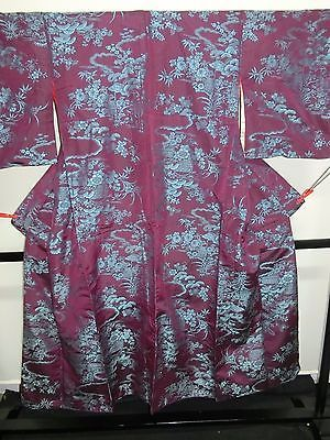 Antique Japanese Kimono Vintage silk Taisho era Ka2175