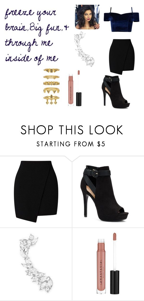 """""""Veronica Sawyer Heathers musical: freeze your brain,Big fun,& through me inside of me Modren"""" by bluenia on Polyvore featuring Apt. 9, Forever 21, Anastasia Beverly Hills and Luv Aj"""