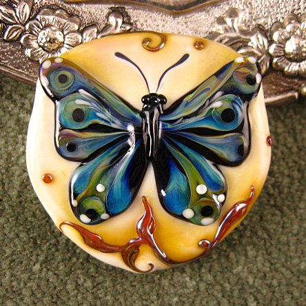 Kerri Fuhr butterfly bead from Etsy  <3<3<3 HER GLASS ART BEADS ARE AMAZING THEY ARE 'ART'!<3<3<3 :)