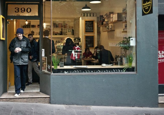 Eat and drink in Melbourne:  Naked Espresso  390 Little Bourke Street, Melbourne