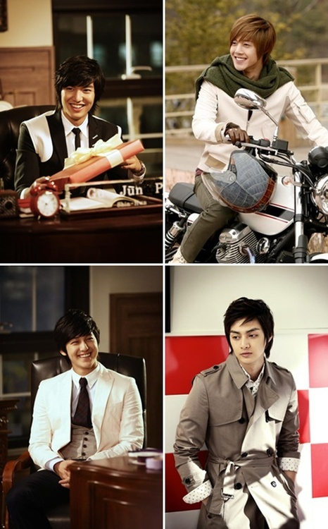 F4 ~ Boys Over Flowers - i love that they're all smiling except Woo Bin (Kim Jun)