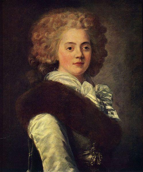 """""""Baronesse Ekaterina Aleksandrovna Naryskina (1769-1824), née Stroganova"""", 1787, by Jean-Louis Voille (French, 1744-1803/05)"""
