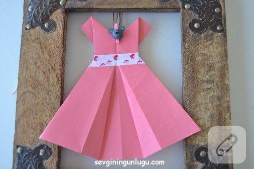 kağıttan elbise yapımı