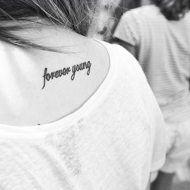 """1,015 Likes, 20 Comments - Little Tattoos (@little.tattoos) on Instagram: """"'Forever young' #littletattoo on Michelle #tattoo #life #love #girls #art #awesome #fashion"""""""