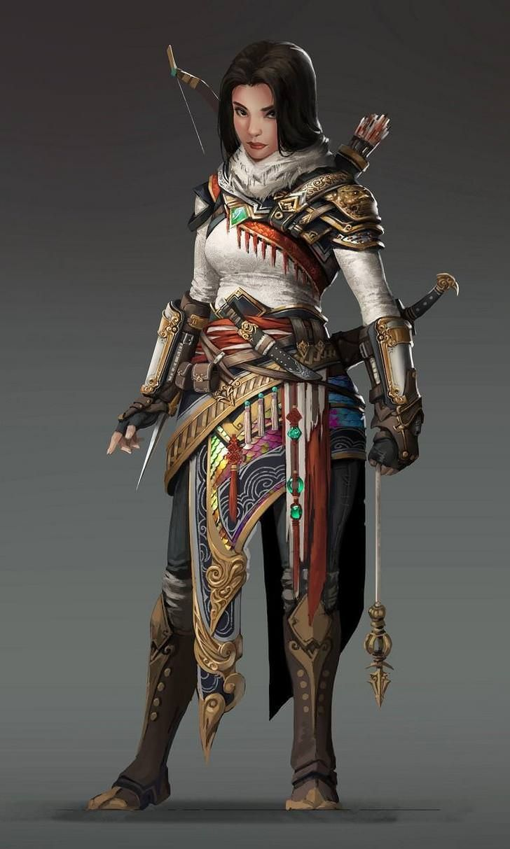 99 d d female character art pieces no boobplate or stab friendly