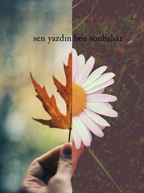 sen yazdın ben sonbahar...