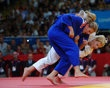 Kayla Harrison of the United States (white) and Gemma Gibbons of Great Britain compete in the Women's -78 kg Judo on Day 6 of the London 2012 Olympic Games at ExCeL on August 2, 2012 in London, England. - http://www.PaulFDavis.com/success-speaker (info@PaulFDavis.com)