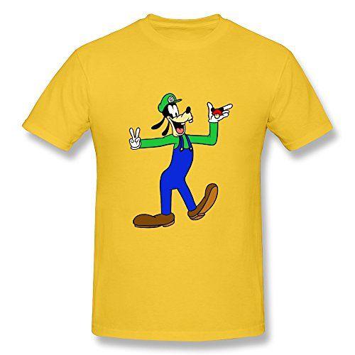 Design Short Sleeve Cool Disney Goofy Face Mens T Shirt Size XL Yellow @ niftywarehouse.com #NiftyWarehouse #Disney #DisneyMovies #Animated #Film #DisneyFilms #DisneyCartoons #Kids #Cartoons