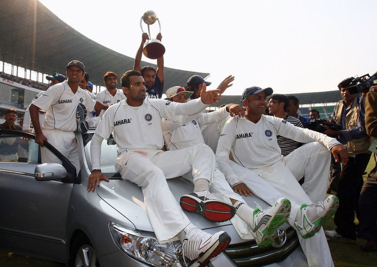 22nd March 2001, India wins the Border Gavaskar Trophy (IND v AUS 3 Matches Test Series). 2nd Test at Eden Gardens when Australia leads the series 1-0 and forces India to Follow-on, India comeback strongly by the 376 runs partnership between Laxman(281 runs) & Dravid(180 runs) and Harbhajan Singh's wicket fest including a Hat trick .