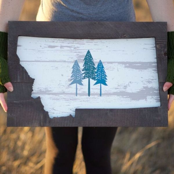New! This Montana wall hanging is the perfect addition to your home or makes the perfect Montana gift! Measures approximately 12.75x19. Please note this may ship separately and may take additional tim