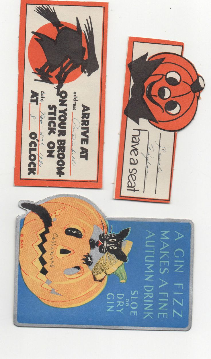 1075 best Halloween Vintage Cards images on Pinterest