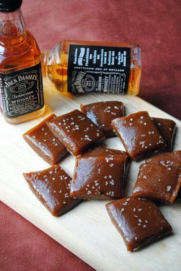 Salted whiskey caramels. I love the idea of a homemade gift along with a giftcard. Makes the present more warm and heart felt:).