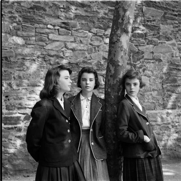 Girls Haircut #2, circa 1956. Edit: Shortest hair - Christina Dees, Medium short hair - Katha Dees, Shoulder length hair - Megan Dees.